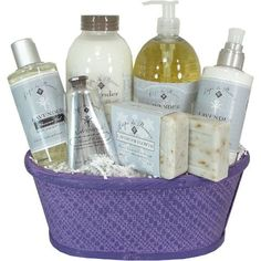 Lavender Flowers Spa Luxury Gift Basket with Epi de Provence Products -   - http://giftbasketblessings.com/product/lavender-flowers-spa-luxury-gift-basket-with-epi-de-provence-products/