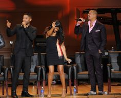 Jussie Smollett, Taraji P. Henson and Terrence Howard during the Q&A at the EMPIRE Season Two season premiere event at Carnegie Hall Empire Tv Show Cast, Most Popular Tv Shows, Empire Season, Empire Fox, Taraji P Henson, Jussie Smollett, Carnegie Hall, Season Premiere, Basketball Players