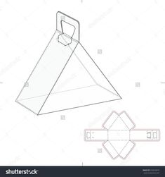 Image result for template square box fold with pop up lid
