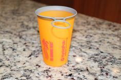 Ditching Disposable Cups at Races · A Triathlete's Diary Running Blogs, Racing Events, Disposable Cups, Red Bull, Shot Glass, Tableware, Dinnerware, Dishes