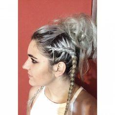 @perrieeele inspired hair by me in @ainhitze97 #hairstyle #hair #braids #updo #silverhair #silver #bleachlondon #bleach #makeup #PicsArt @aaroncarlohair @littlemixofficial @bleachlondon @fudgeurban @louteasdale @lottietommo123 @daniellekahlani @nicolekahlani @lorenmiles