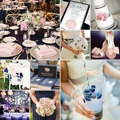 Navy and Blush { An Exquisite Contrast }