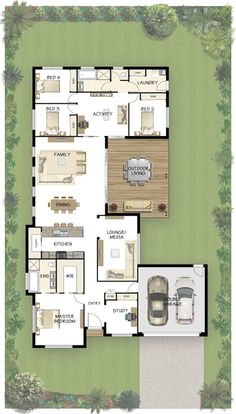 Coral Homes :: Stradbroke Series features My favorite floor plan so far. House Plans One Story, Dream House Plans, Modern House Plans, Small House Plans, House Floor Plans, U Shaped House Plans, The Plan, How To Plan, Villa Plan