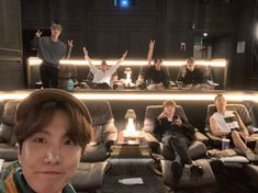 All look cool but jimin try to concentrate on mobile Taehyung, Namjoon, Yoongi, Seokjin, Boy Scouts, Bts Photo, Foto Bts, Bts Bangtan Boy, Bts Boys
