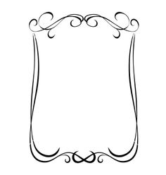 Simple black ornamental decorative frame vector 1151945 - by 100ker on VectorStock®