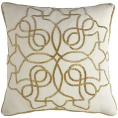 Calico Natural Beaded Medallion Pillow  Pier One $30