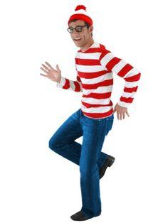 Wheres Waldo Book Costume Funny Costume Easy Costumes Halloween Sizes: Small-Medium ...