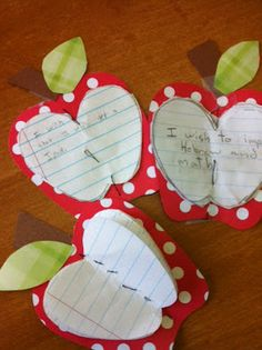 apple crafts ~ with scripture referenced in McCloughlin lesson