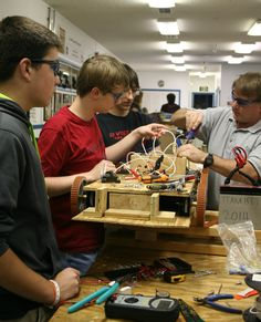 FRC Team 1557 preparing robot for 2015 competition