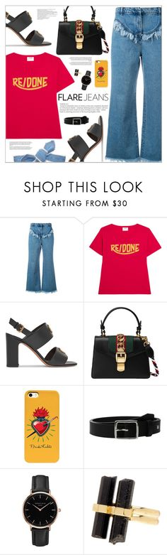 """""""Casual Night"""" by makeupgoddess on Polyvore featuring Philosophy di Lorenzo Serafini, RE/DONE, Valentino, Gucci, rag & bone, Topshop, House of Harlow 1960 and Colette Malouf"""