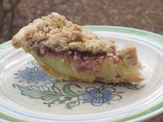 Crumble-Topped Buttermilk Custard Pie with Raspberry Jam