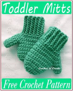 Crochet Toddler Hat, Crochet Baby Mittens, Toddler Mittens, Crochet Mitts, Crochet Mittens Free Pattern, Crochet Baby Clothes, Crochet Scarves, Crochet For Kids, Free Crochet