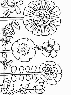 """Printable Coloring Pictures Of Flowers Inspirational Pagine Da Colorare Tema """". Printable Coloring Pictures Of Flowers Inspirational Pagine Da Colorare Tema """"fiori"""" – Wonder Flower Coloring Pages, Coloring Book Pages, Printable Coloring Pages, Coloring Sheets, Embroidery Applique, Embroidery Stitches, Embroidery Patterns, Baby Applique, Flower Doodles"""