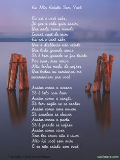Eu Não Existo Sem Você, Tom Jobim  Vinícius de Moraes