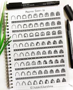 296 Me gusta, 9 comentarios - Karishma Srivastava Mandala Doodle, Henna Mandala, Mandala Art Lesson, Mandala Artwork, Mandala Drawing, Doodle Art Designs, Doodle Patterns, Zentangle Patterns, Dibujos Zentangle Art