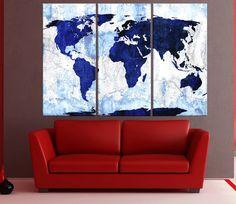 Trendy Diy Room Decir Canvas World Maps 18 Ideas World Map Canvas, World Map Wall Art, Map Art, Diy Clothes Closet, Wall Art Prints, Canvas Prints, Bedroom Wall Colors, Watercolor Map, Living Room Art