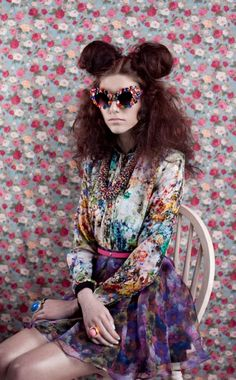 Clashing prints editorial