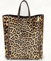 Celine Side Lock in Leopard Pony