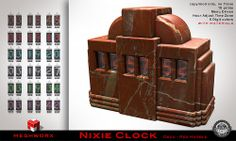 MESHWORX Nixie Clock Deco Red Marble at The MENs Depart