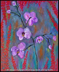 ORCHIDS at Saratoga Paint & Sip Studio