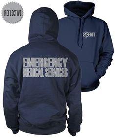 EMT Reflective Hooded Sweatshirt from Fisher Sportswear
