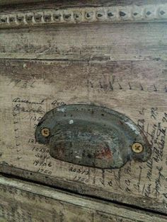 Bohemian Pages: DIY Friday- Decoupage Paint Furniture, Furniture Projects, Furniture Makeover, Furniture Refinishing, Furniture Hardware, Furniture Stores, Distressed Furniture, Repurposed Furniture, Distressed Cabinets