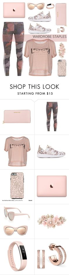 """Leggings 2"" by depolo-marina ❤ liked on Polyvore featuring Michael Kors, adidas Originals, ONLY, NIKE, STELLA McCARTNEY, Accessorize, Fitbit, Leggings and WardrobeStaples"