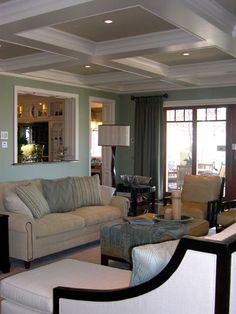 Window between two rooms pass through open concept - Open window between kitchen living room ...