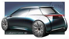Mini Vision Next 100 concept design sketch by Stefan Goeppel