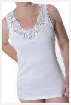 9er Paket Damenunterhemden mit super Spitze