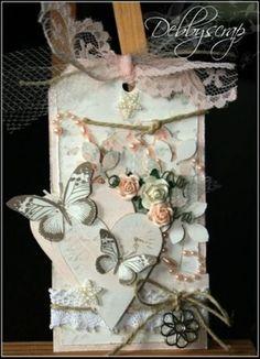 DIY Butterfly Wedding Invitation ♥ Cheap Vintage Wedding Invitation ♥ Scrapbooking