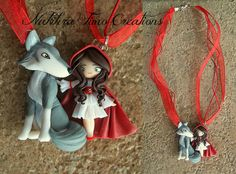 Little Red Riding Hood and Wolf Polymer Clay | Flickr - Photo Sharing!