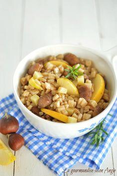 salade automnale de crozets - pommes, marrons & comté  http://www.la-gourmandise-selon-angie.com/archives/2014/10/19/30510483.html