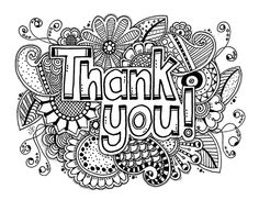 Coloring Pages Of Thank You Cards - Coloring Pages Of Thank You ...