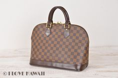 Louis Vuitton Damier Ebene Alma Hand Bag N51131