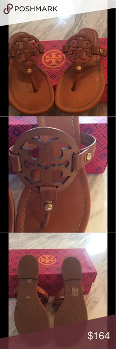 Tory Burch Miller Vintage Vachetta Sandals Like new Tory Burch Vintage Vachetta Sandals with slip resistant soles.  Ships w/o box the same day of purchase confirmation. Tory Burch Shoes Sandals