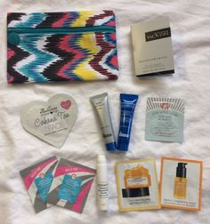 Ipsy Bag & 10 Samples Makeup Beauty Mixed LOT Skin & Scent NEW! #DrBrandtFABOleHenrikson