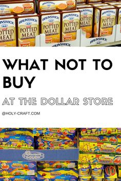 Holy Craft: What not to buy at the Dollar Store