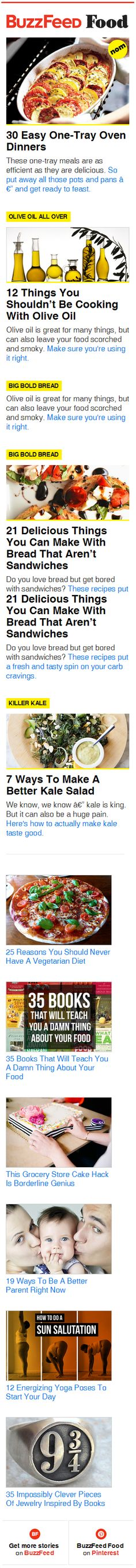 Delicious looking responsive email design from BuzzFeed Food