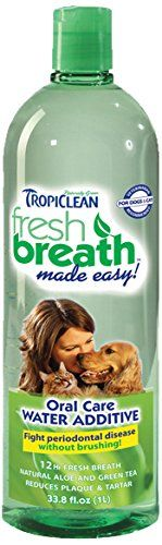Tropiclean Fresh Breath Plaque Remover Pet Water Additive 33.8oz - http://darrenblogs.com/2015/10/tropiclean-fresh-breath-plaque-remover-pet-water-additive-33-8oz/