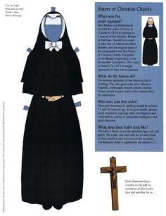 Бумажные куклы, монахини