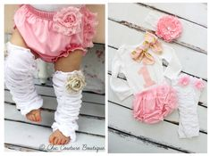 Baby Girl Birthday Outfit Cake Smash Set up to 4 Items ONE & Bow Bodysuit, Lace Bloomers Diaper Cover, Leg Warmers, Gold Lace Headband by ChicCoutureBoutique on Etsy 1st Birthday Onesie, Half Birthday, Baby Girl 1st Birthday, 1st Birthday Outfits, Birthday Ideas, Ruffle Diaper Covers, Girls Coming Home Outfit, Cake Smash Outfit, Valentine's Day Outfit
