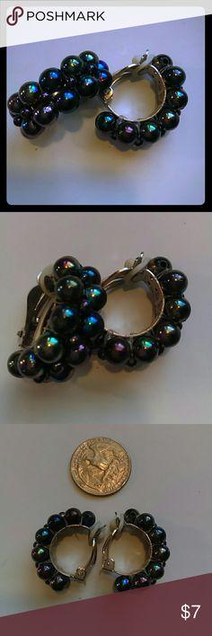 Vintage earrings Clip on half hoops vintage earrings Vintage Jewelry Earrings
