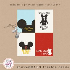 Project Mouse SounvenEARS free Disney Printable Cards