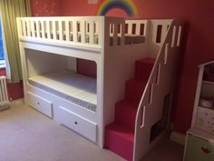 High Bunk Bed with Draws