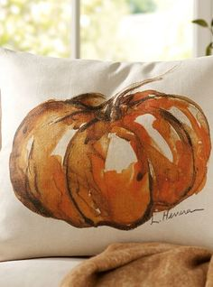 Pumpkin pillow.