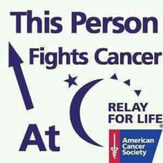 This person fights cancer at ~~~Relay Relay For Life, Cancer Facts, For Facebook, Facebook Timeline, Sign Quotes, Cancer Awareness, A Team, Breast Cancer, The Cure
