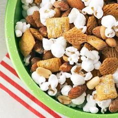 Diabetic Snack and Party Mixes   Not all allergen friendly but these sound yummy.