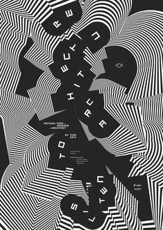 LTT – Lunchtime Talk with Michael Cede, Musician/Architect – DHBW Mediendesign – Poster: Klaus Birk 2014