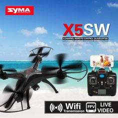 New! SYMA X5SW RC Drone FPV Quadcopter with 2 Megapixels HD Camera 2.4G 6-Axis Medium Real Time Live…